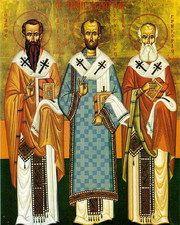 Vasile cel Mare, Grigorie Teologul şi Ioan Gură de Aur sau Cei Trei Ierarhi